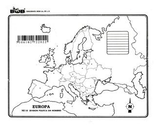Mapa De El Continente Europeo Con Division Politica Y Nombres