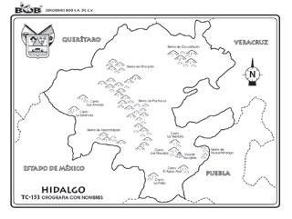 Hidalgo – Orografía c/n