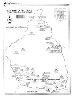 Distrito Federal – Orografía c/n