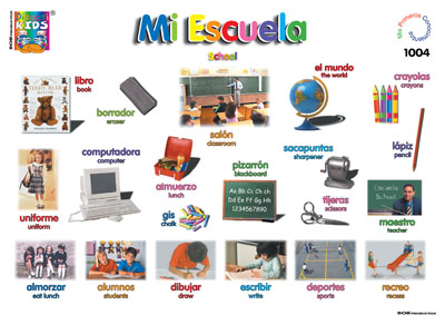 school vocabulary #escuela | school - escuela | Pinterest | School